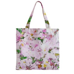 Soft Floral, Spring Zipper Grocery Tote Bags