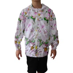 Soft Floral, Spring Hooded Wind Breaker (kids)