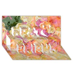 Soft Floral,roses Best Friends 3d Greeting Card (8x4)