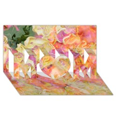 Soft Floral,roses Mom 3d Greeting Card (8x4)