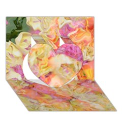 Soft Floral,roses Heart 3D Greeting Card (7x5)