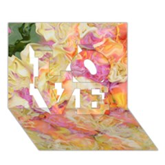 Soft Floral,roses LOVE 3D Greeting Card (7x5)