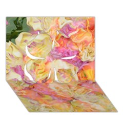 Soft Floral,roses Clover 3d Greeting Card (7x5)