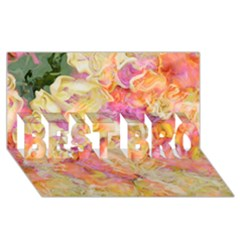 Soft Floral,roses Best Bro 3d Greeting Card (8x4)