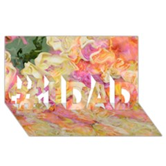 Soft Floral,roses #1 DAD 3D Greeting Card (8x4)