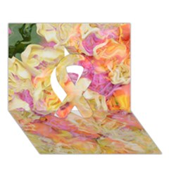 Soft Floral,roses Ribbon 3D Greeting Card (7x5)