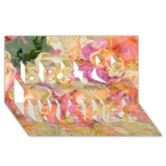 Soft Floral,roses Best Wish 3d Greeting Card (8x4)