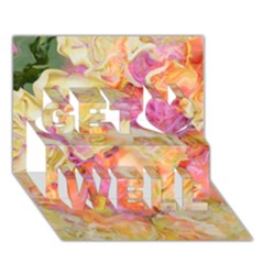 Soft Floral,roses Get Well 3D Greeting Card (7x5)