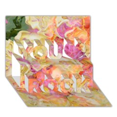 Soft Floral,roses You Rock 3d Greeting Card (7x5)