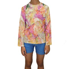 Soft Floral,roses Kid s Long Sleeve Swimwear