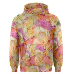 Soft Floral,roses Men s Pullover Hoodies