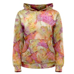Soft Floral,roses Women s Pullover Hoodies