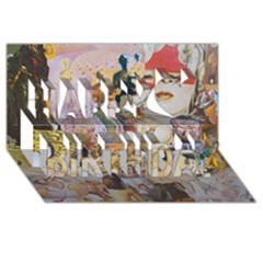 Booboo Happy Birthday 3D Greeting Card (8x4)