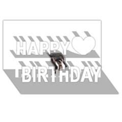 Chipped Happy Birthday 3d Greeting Card (8x4)