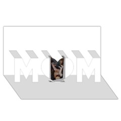 Chipped Mom 3d Greeting Card (8x4)