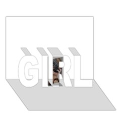 Chipped Girl 3d Greeting Card (7x5)
