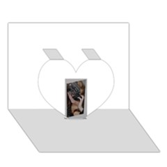 Chipped Heart 3d Greeting Card (7x5)
