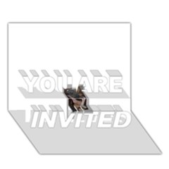 Chipped YOU ARE INVITED 3D Greeting Card (7x5)