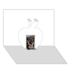 Chipped Apple 3d Greeting Card (7x5)