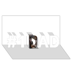 Chipped #1 Dad 3d Greeting Card (8x4)
