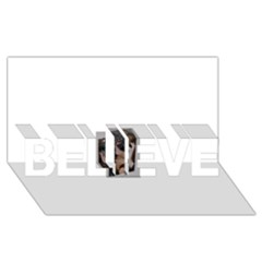 Chipped BELIEVE 3D Greeting Card (8x4)