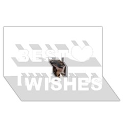 Chipped Best Wish 3D Greeting Card (8x4)