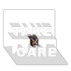 Chipped Take Care 3d Greeting Card (7x5)