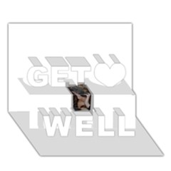 Chipped Get Well 3d Greeting Card (7x5)
