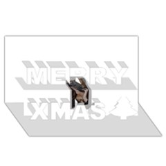 Chipped Merry Xmas 3d Greeting Card (8x4)