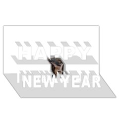 Chipped Happy New Year 3d Greeting Card (8x4)