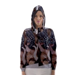Chipped Hooded Wind Breaker (Women)