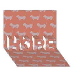 Cute Dachshund Pattern In Peach Hope 3d Greeting Card (7x5)
