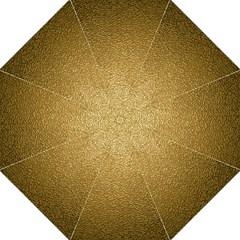Gold Plastic Folding Umbrellas