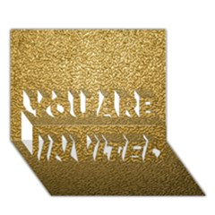 GOLD PLASTIC YOU ARE INVITED 3D Greeting Card (7x5)