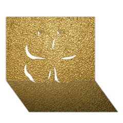 Gold Plastic Clover 3d Greeting Card (7x5)