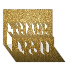 Gold Plastic Thank You 3d Greeting Card (7x5)