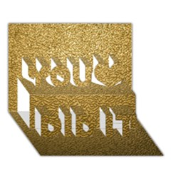 GOLD PLASTIC You Did It 3D Greeting Card (7x5)