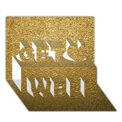 Gold Plastic Get Well 3d Greeting Card (7x5)
