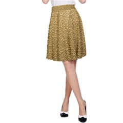 GOLD PLASTIC A-Line Skirt