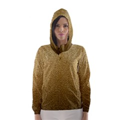 Gold Plastic Hooded Wind Breaker (women)