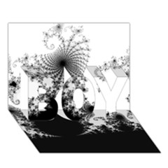 Fractal Boy 3d Greeting Card (7x5)