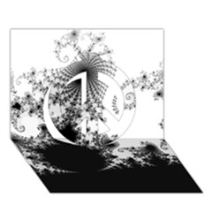FRACTAL Peace Sign 3D Greeting Card (7x5)