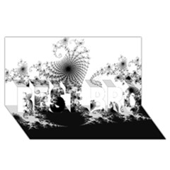 Fractal Best Bro 3d Greeting Card (8x4)