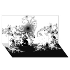 FRACTAL BEST SIS 3D Greeting Card (8x4)