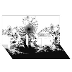 FRACTAL PARTY 3D Greeting Card (8x4)