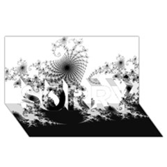 FRACTAL SORRY 3D Greeting Card (8x4)