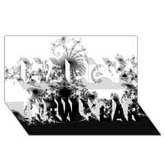 Fractal Happy New Year 3d Greeting Card (8x4)