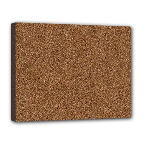 Dark Brown Sand Texture Canvas 14  X 11