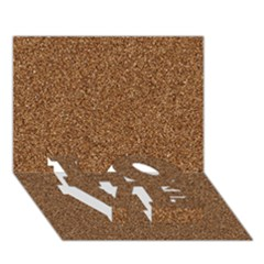 Dark Brown Sand Texture Love Bottom 3d Greeting Card (7x5)