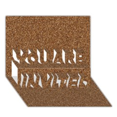 Dark Brown Sand Texture You Are Invited 3d Greeting Card (7x5)